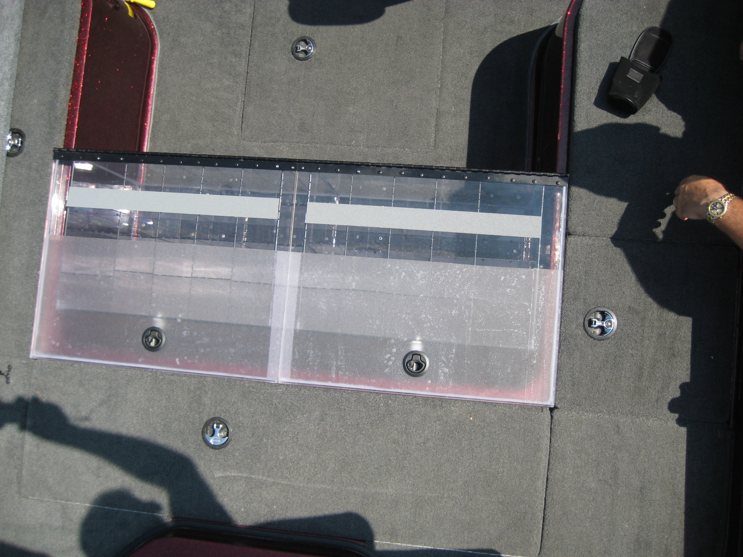 Bob Turgeon Deck Box Top View - prior to full nonslip